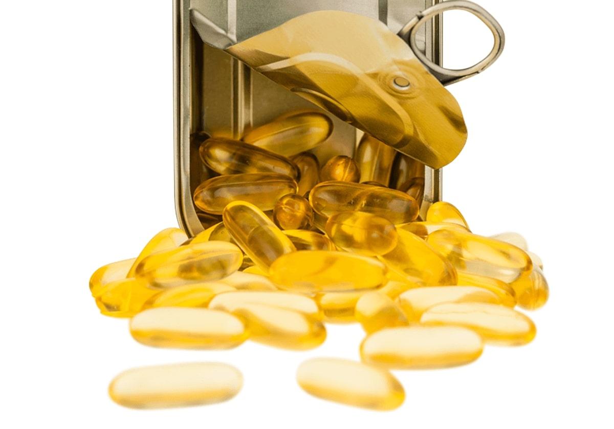 capsulas de omega 3 - suplemento e alimento