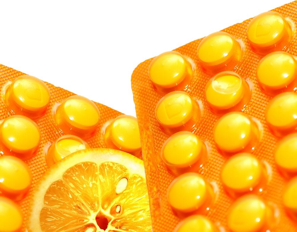 Vitamina C em comprimido