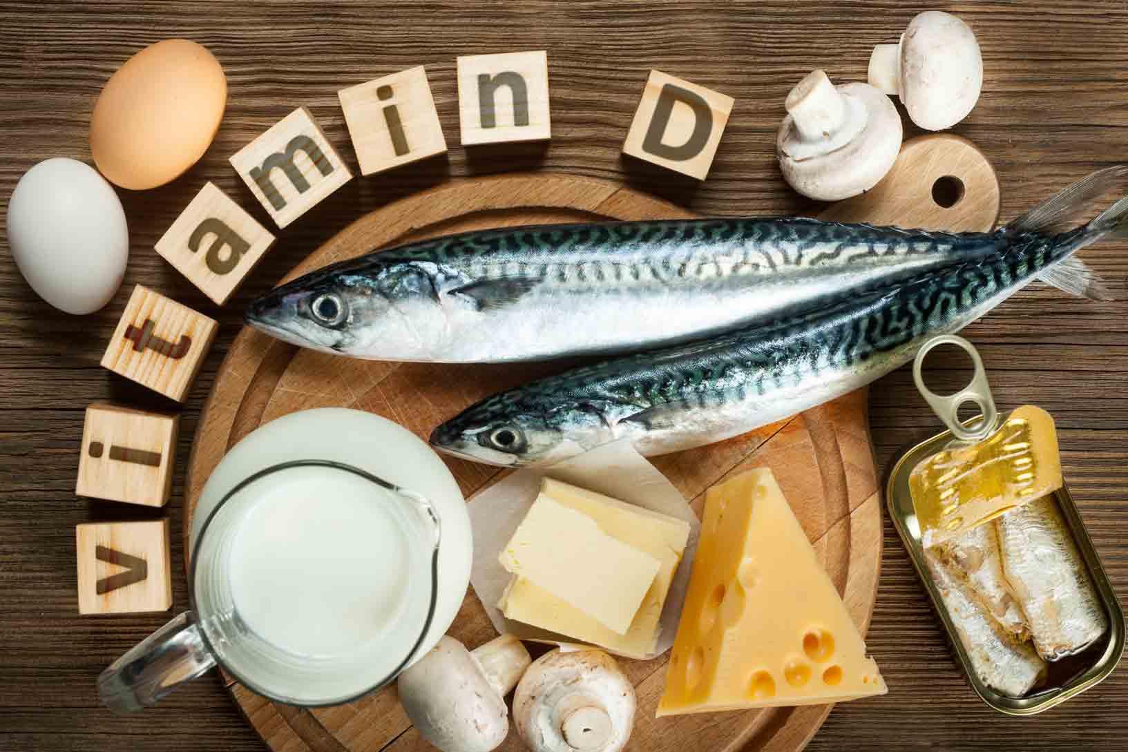 Fontes de vitamina D.