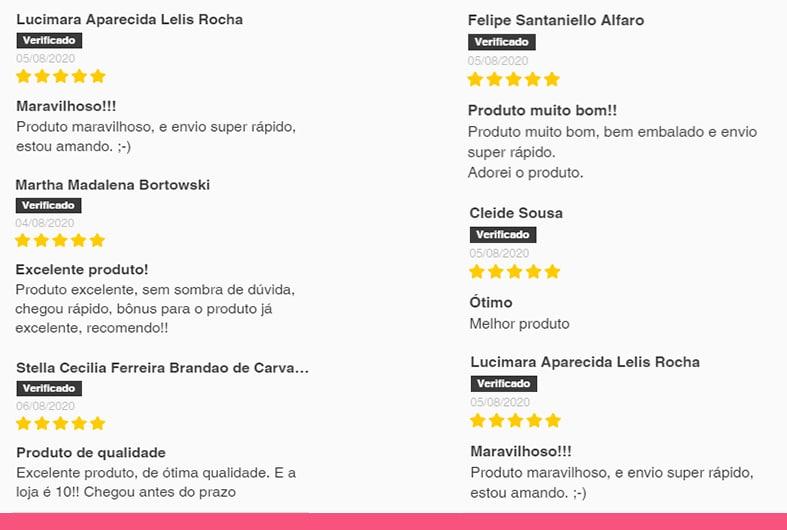 Reviews dos clientes de ômega 3.