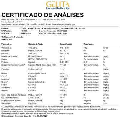 certificado verisol